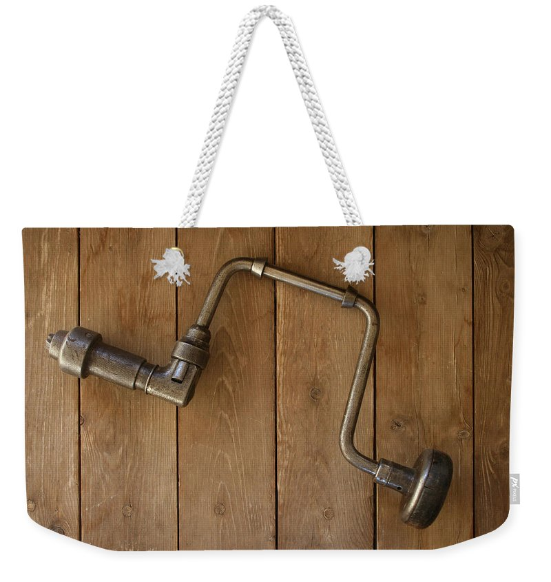 Tool Weekender Tote Bag featuring the photograph Old Drill by Marna Edwards Flavell