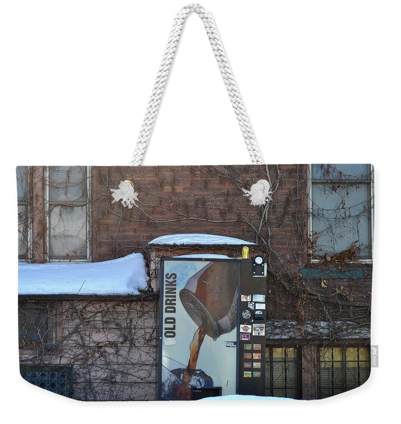 Drinks Weekender Tote Bag featuring the photograph Old Drinks by Tim Nyberg