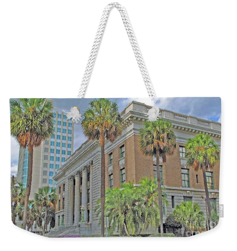Tampa Weekender Tote Bag featuring the photograph Old Federal Building by Jost Houk
