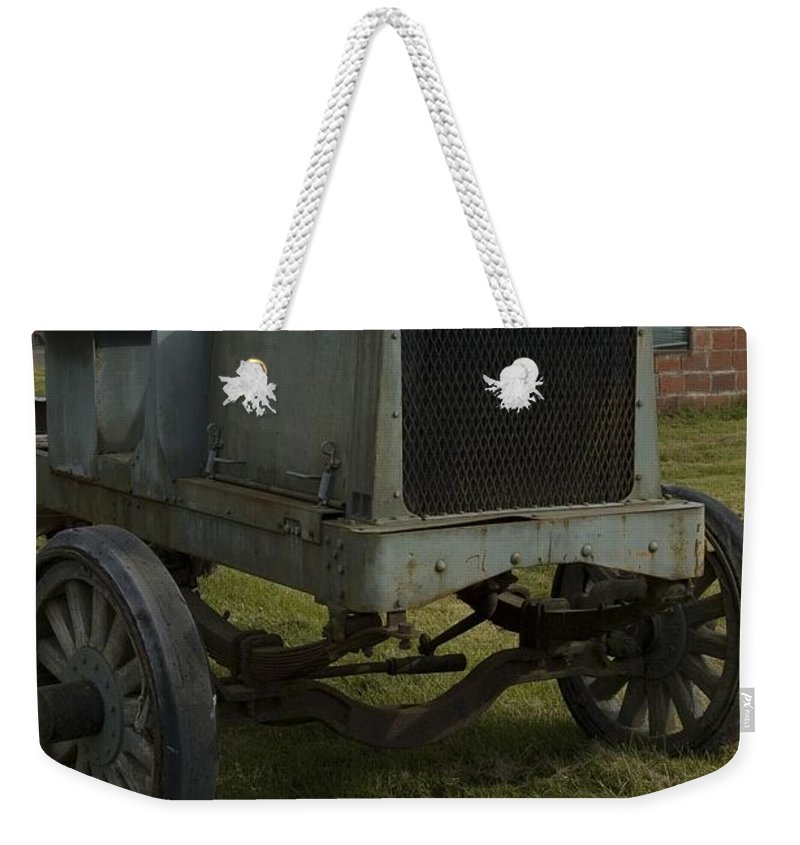 Old Weekender Tote Bag featuring the photograph Old Flat Bed Truck by Sara Stevenson