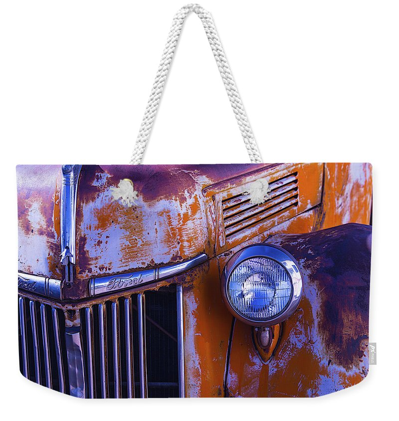Truck Weekender Tote Bag featuring the photograph Old Ford Pickup by Garry Gay