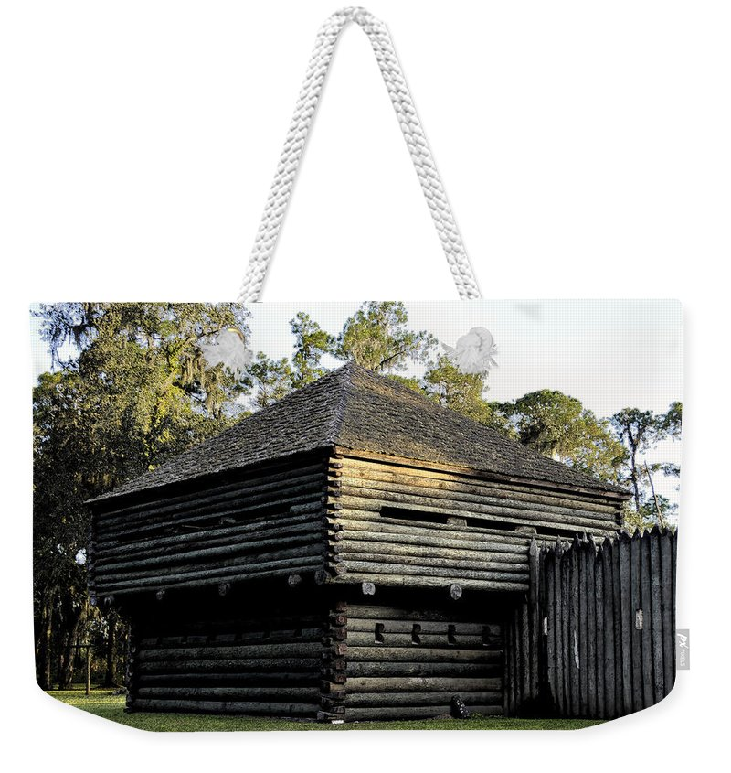 Fort Foster Weekender Tote Bag featuring the painting Old Fort Foster by David Lee Thompson