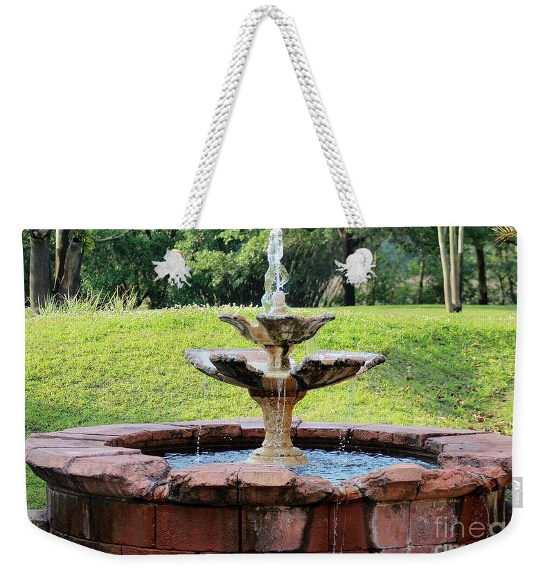 Fountain Weekender Tote Bag featuring the photograph Old Fountain by Mesa Teresita