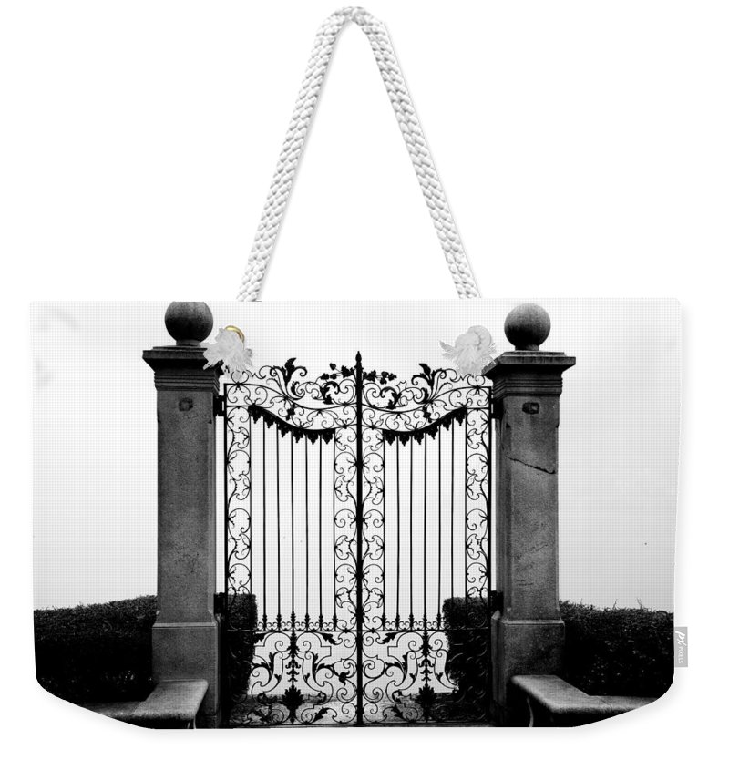 Gate Weekender Tote Bag featuring the photograph Old Gate by Mats Silvan
