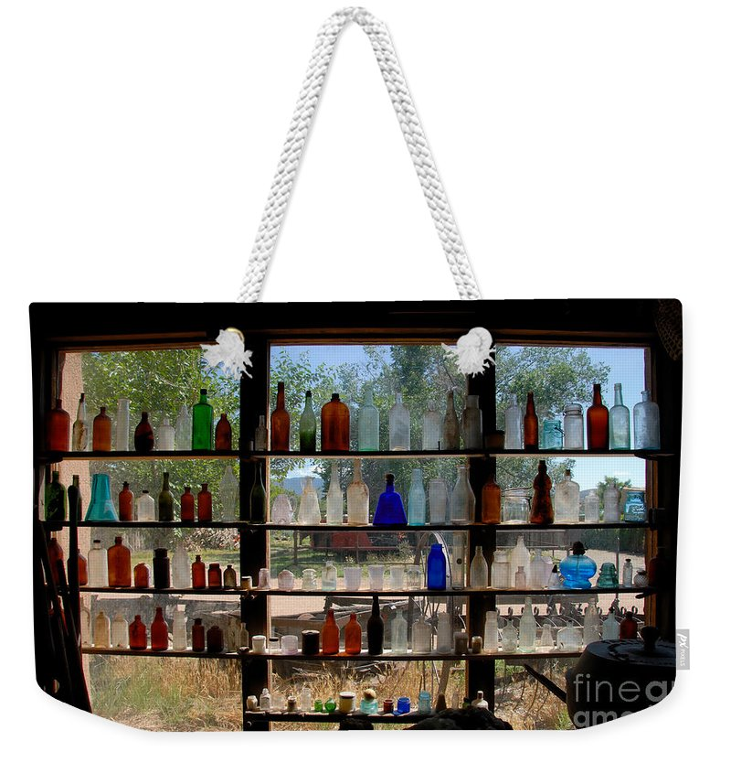 Glass Weekender Tote Bag featuring the photograph Old Glass by David Lee Thompson