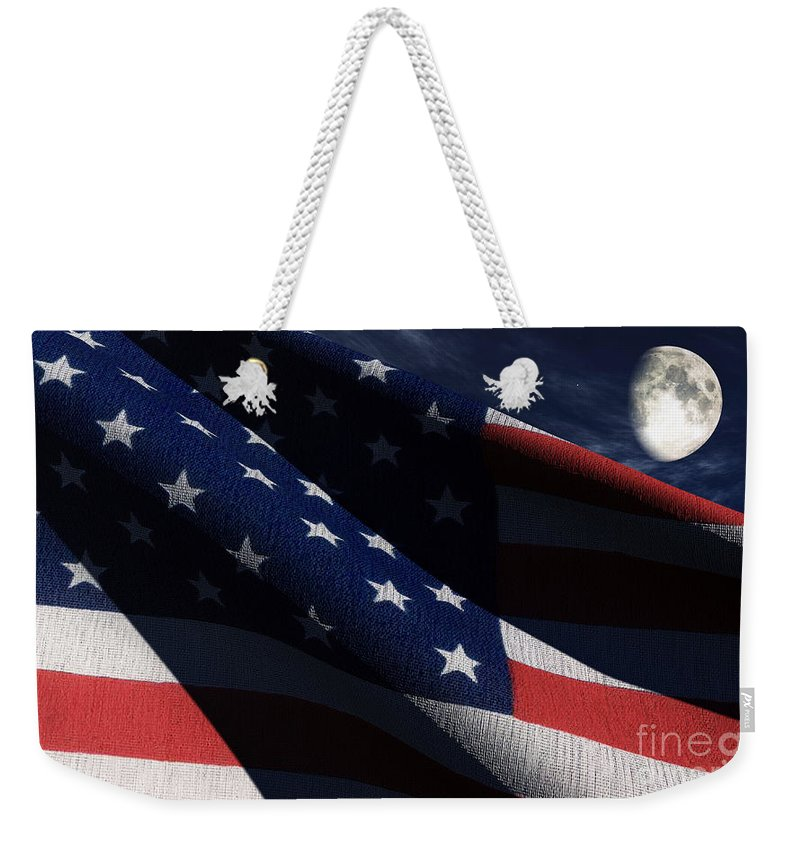 Us Flags Weekender Tote Bag featuring the digital art Old Glory 2 by Richard Rizzo