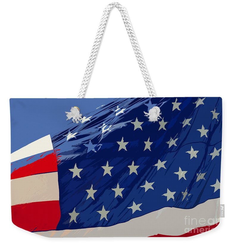 Old Glory Weekender Tote Bag featuring the painting Old Glory by David Lee Thompson