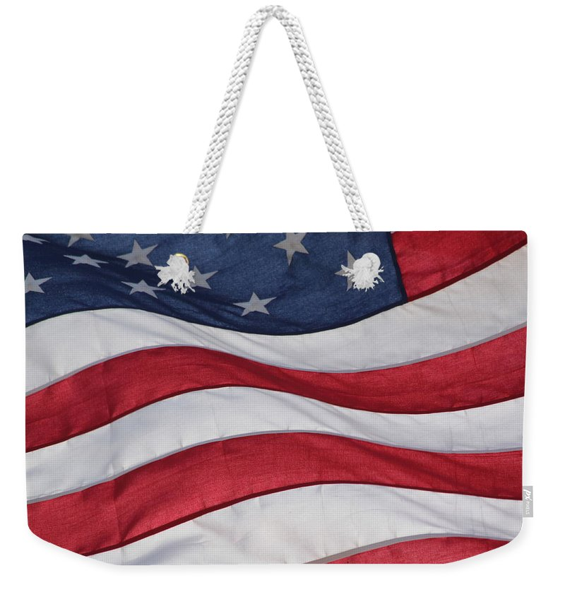 America Weekender Tote Bag featuring the photograph Old Glory by Lauri Novak