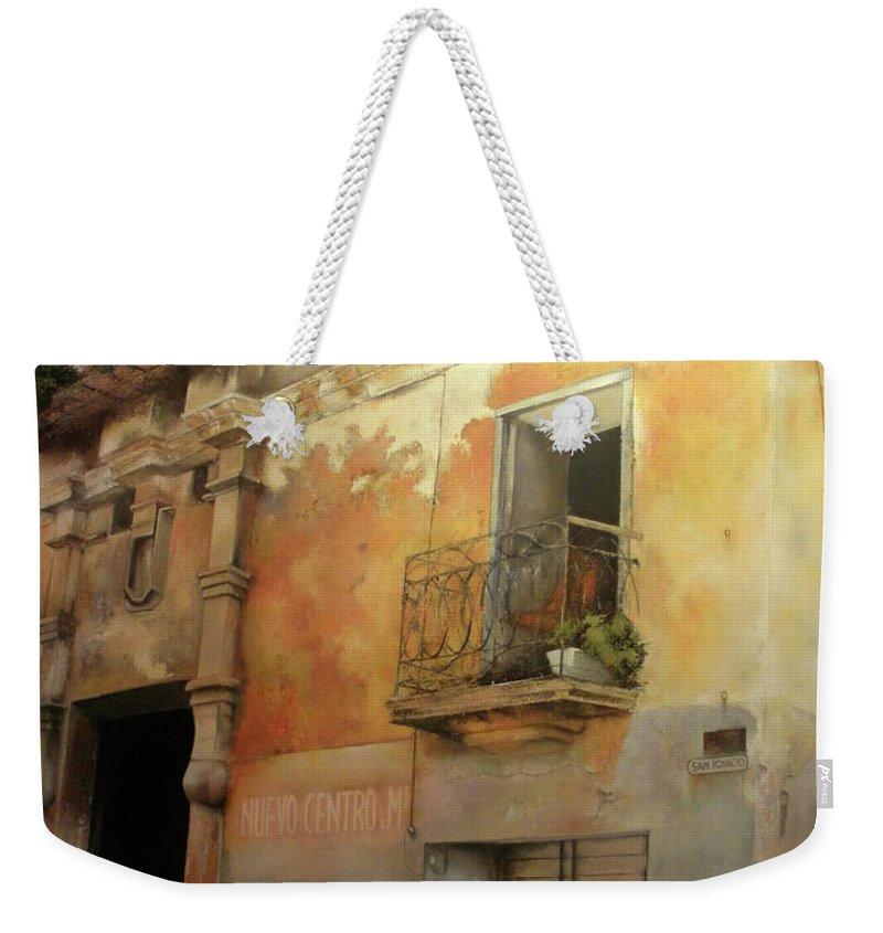 Havana Cuba Weekender Tote Bag featuring the painting Old Havana by Tomas Castano