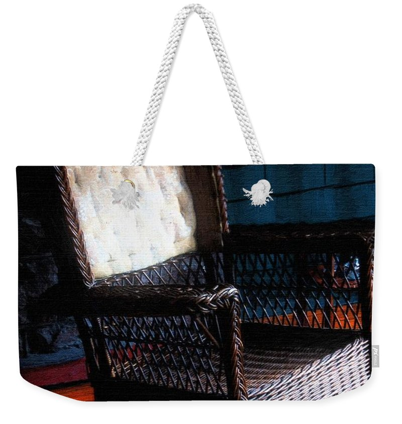 Rocking Chair Weekender Tote Bag featuring the painting Old Homestead Sunset by RC DeWinter