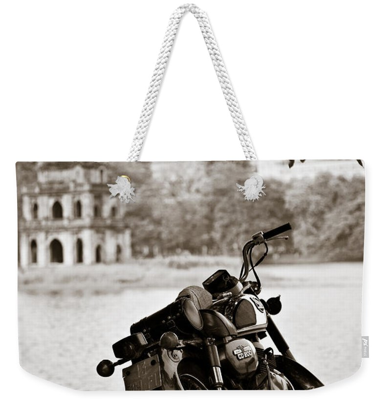 Honda Weekender Tote Bag featuring the photograph Old Honda by Dave Bowman