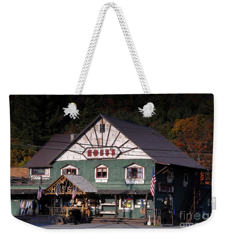 Old Store Weekender Tote Bag featuring the photograph Old Hoss's by David Lee Thompson