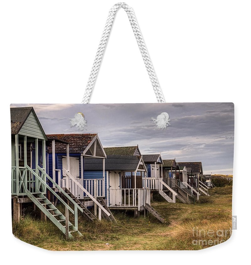 Hut Weekender Tote Bag featuring the photograph Beach Huts At Old Hunstanton by John Edwards