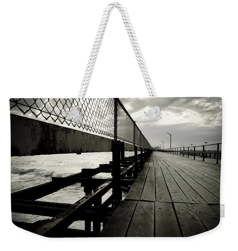 Old Weekender Tote Bag featuring the photograph Old Jetty by Kelly Jade King