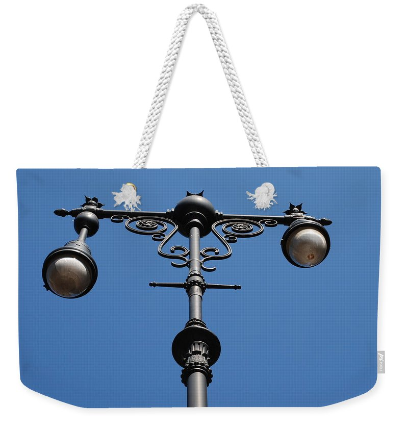 Lamppost Weekender Tote Bag featuring the photograph Old Lamppost by Rob Hans