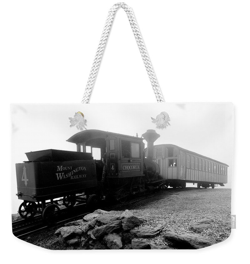 Train Weekender Tote Bag featuring the photograph Old Locomotive by Sebastian Musial