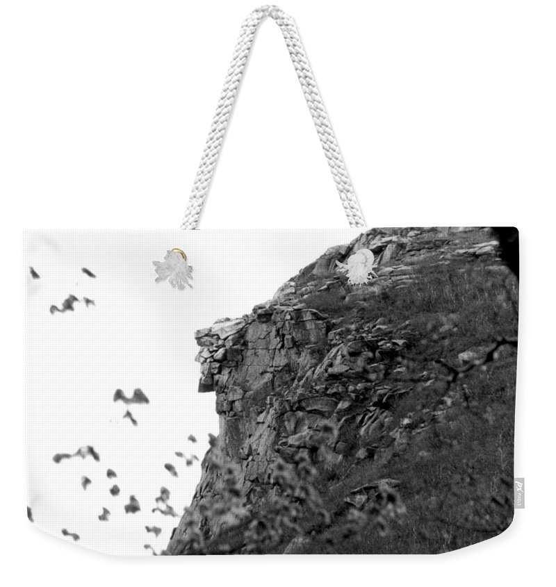 Old Man In The Mountain Weekender Tote Bag featuring the photograph Old Man In The Mountain by Greg Fortier