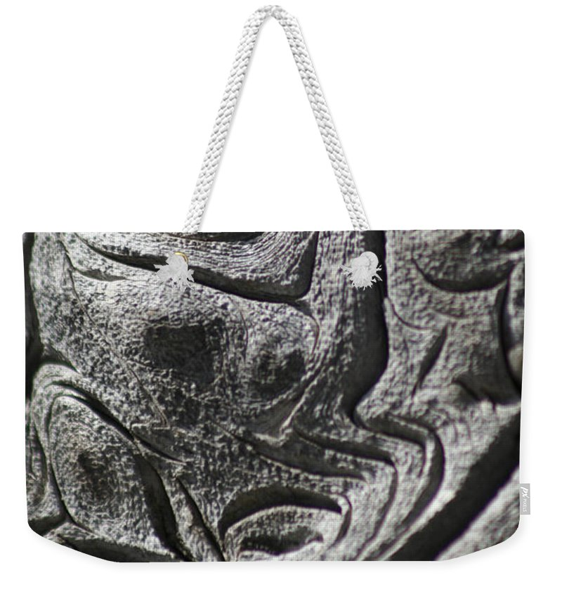 Wood Weekender Tote Bag featuring the photograph Old Man In The Wood by Ric Bascobert