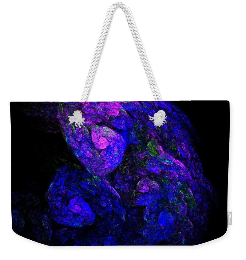 Abstract Digital Photo Weekender Tote Bag featuring the digital art Old Man Take A Look At Yourself by David Lane