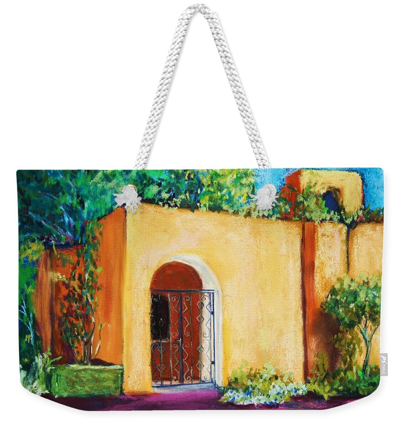 New Mexico Weekender Tote Bag featuring the painting Old Mesilla by Melinda Etzold