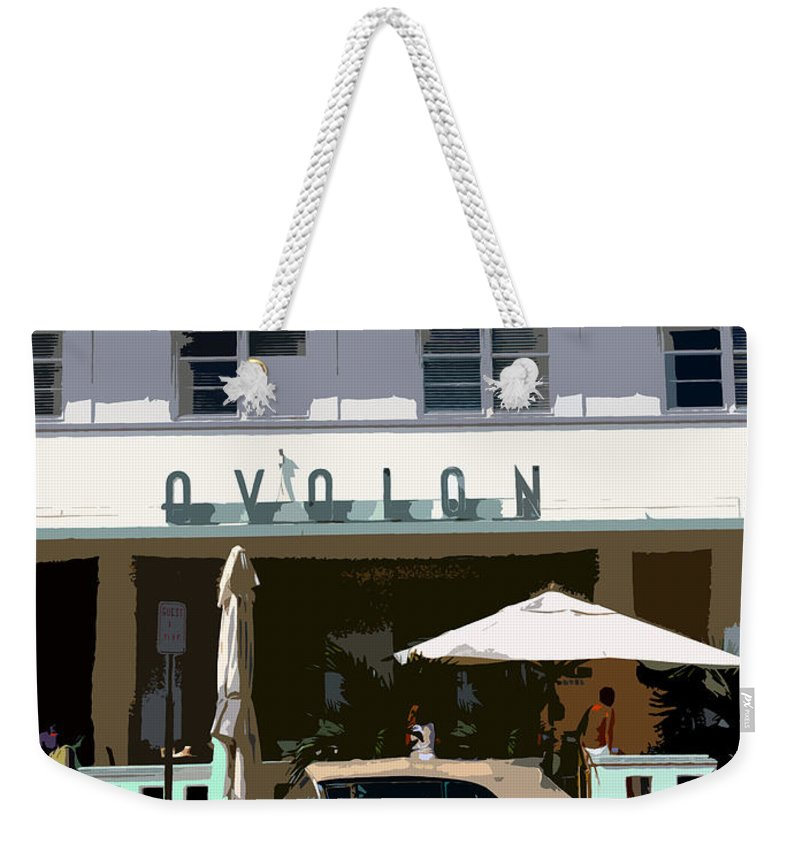 Miami Beach Florida Weekender Tote Bag featuring the photograph Old Miami Beach by David Lee Thompson
