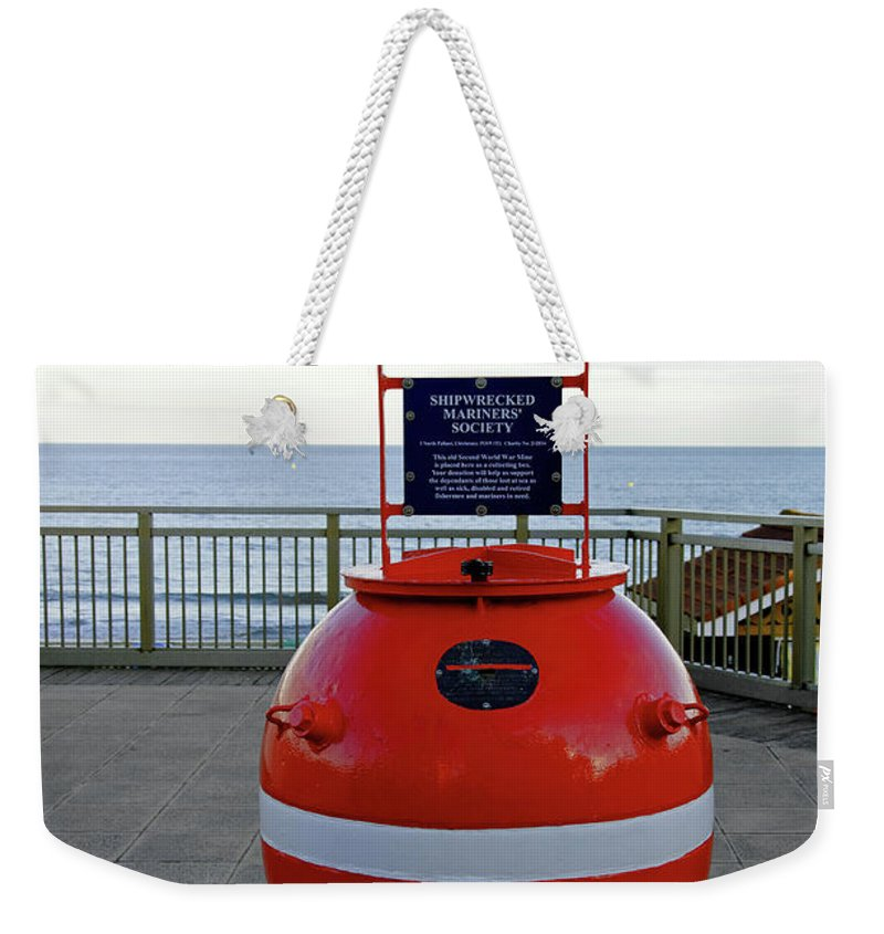 Isle Of Wight Weekender Tote Bag featuring the photograph Old Mine Collecting Box - Sandown by Rod Johnson