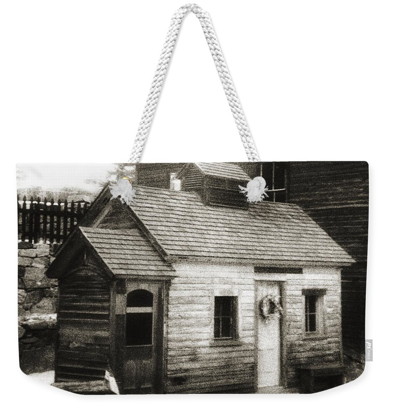 Infrared Weekender Tote Bag featuring the photograph Old Miner by Marilyn Hunt