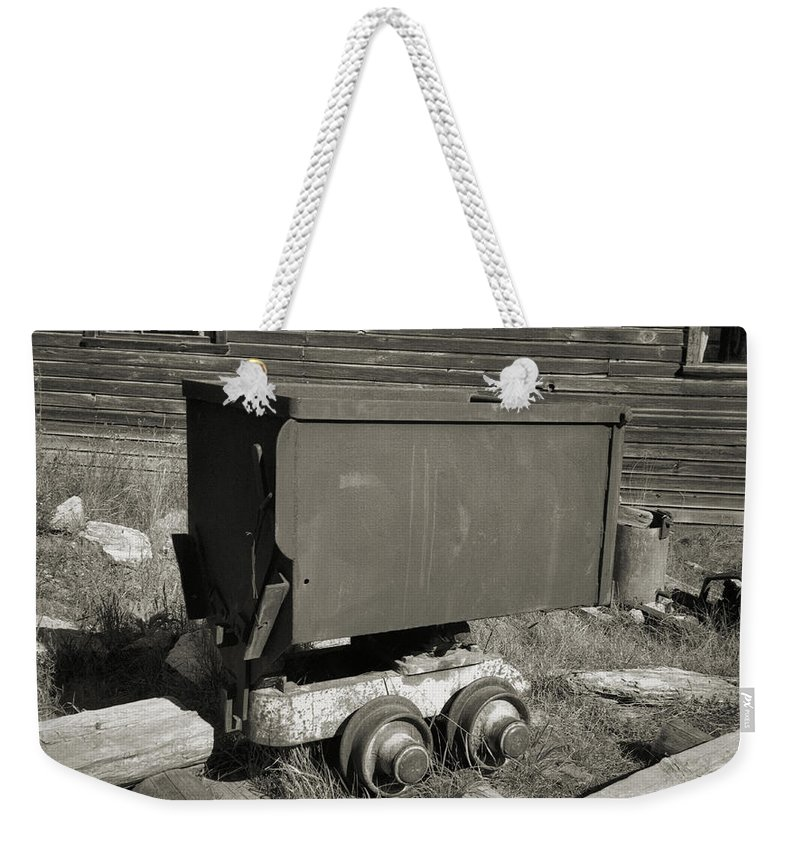 Ore Cart Weekender Tote Bag featuring the photograph Old Mining Cart by Richard Rizzo