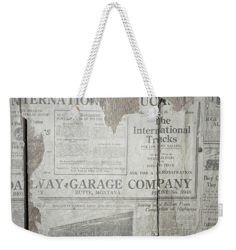 Newspapers Weekender Tote Bag featuring the photograph Old News by Richard Rizzo