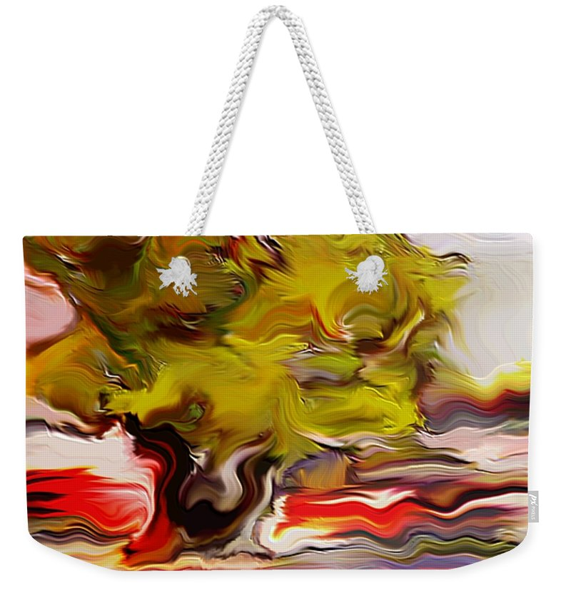 Olive Tree Weekender Tote Bag featuring the digital art Old Olive Tree by Dragica Micki Fortuna