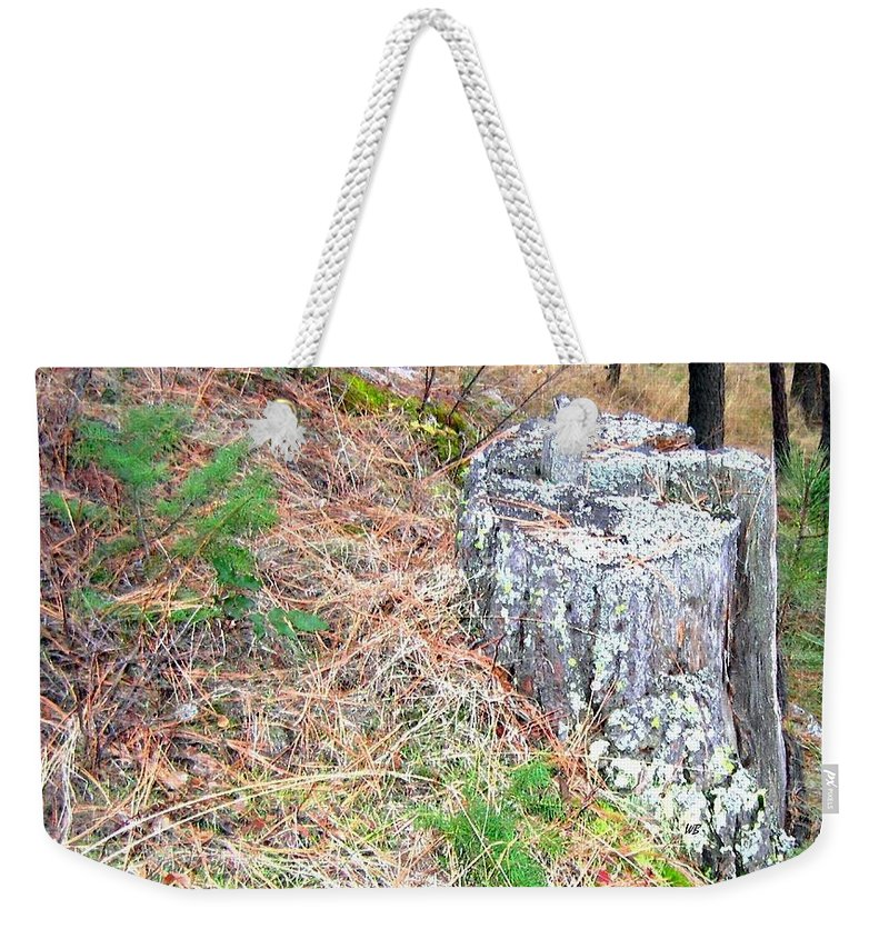 Forest Weekender Tote Bag featuring the photograph Old Pine Stump by Will Borden