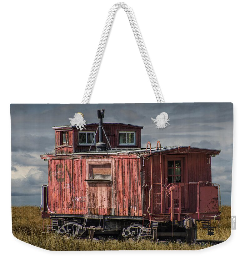 old red train caboose weekender tote bag for sale by randall nyhof. Black Bedroom Furniture Sets. Home Design Ideas