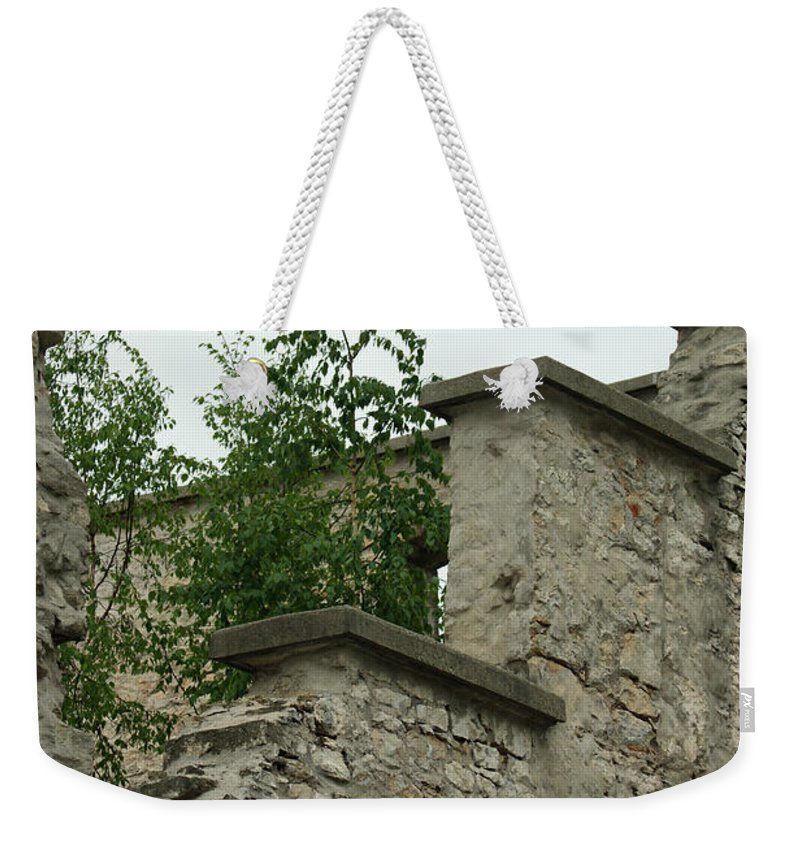 Old Ruins Weekender Tote Bag featuring the photograph Old Ruins by Maria Keady