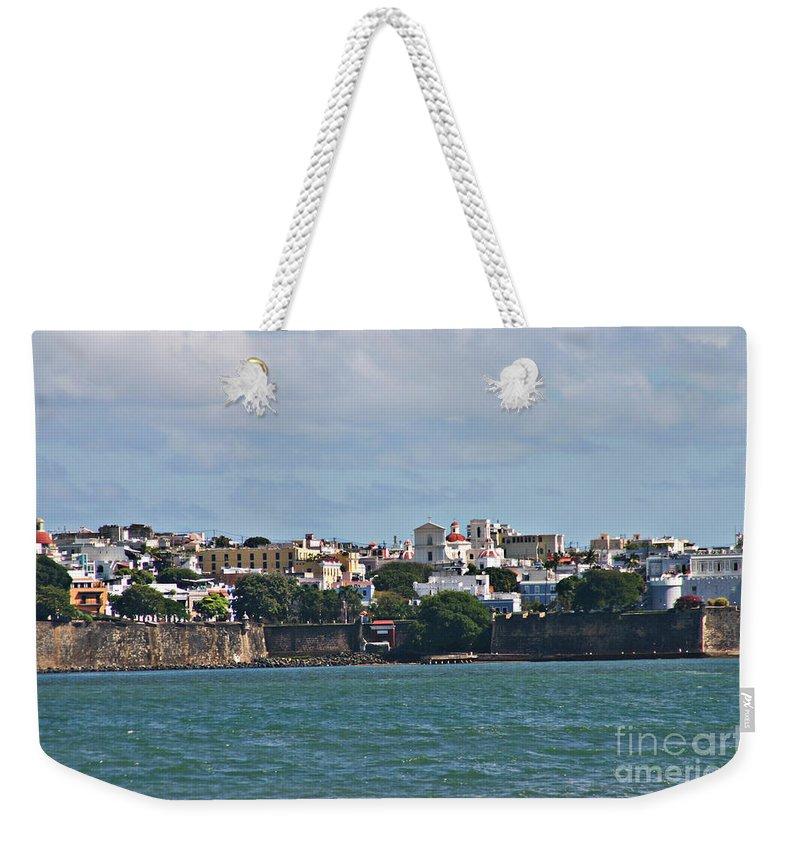 San Juan Weekender Tote Bag featuring the photograph Old San Juan by Gilbert