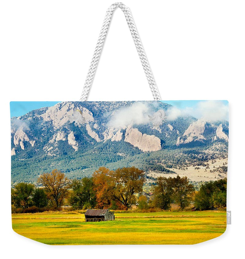 Rural Weekender Tote Bag featuring the photograph Old Shed by Marilyn Hunt