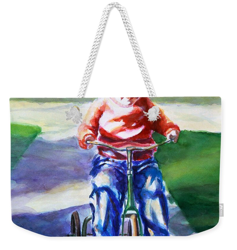 Girl Weekender Tote Bag featuring the painting Old Soul by Shannon Grissom
