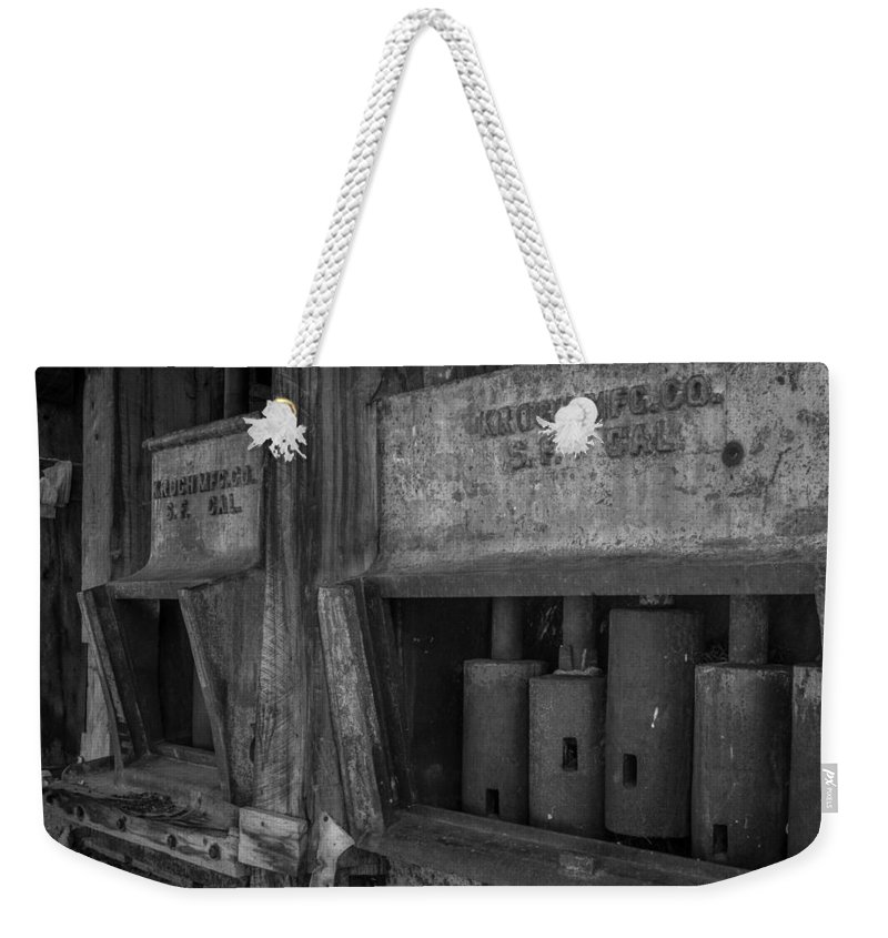 Stamp Mill Weekender Tote Bag featuring the photograph Gray's Stamp Mill by Michele James