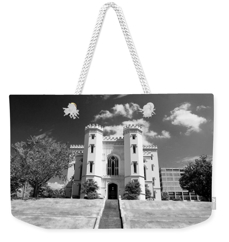 Buildings Weekender Tote Bag featuring the photograph Old State Capital - Infared by Scott Pellegrin