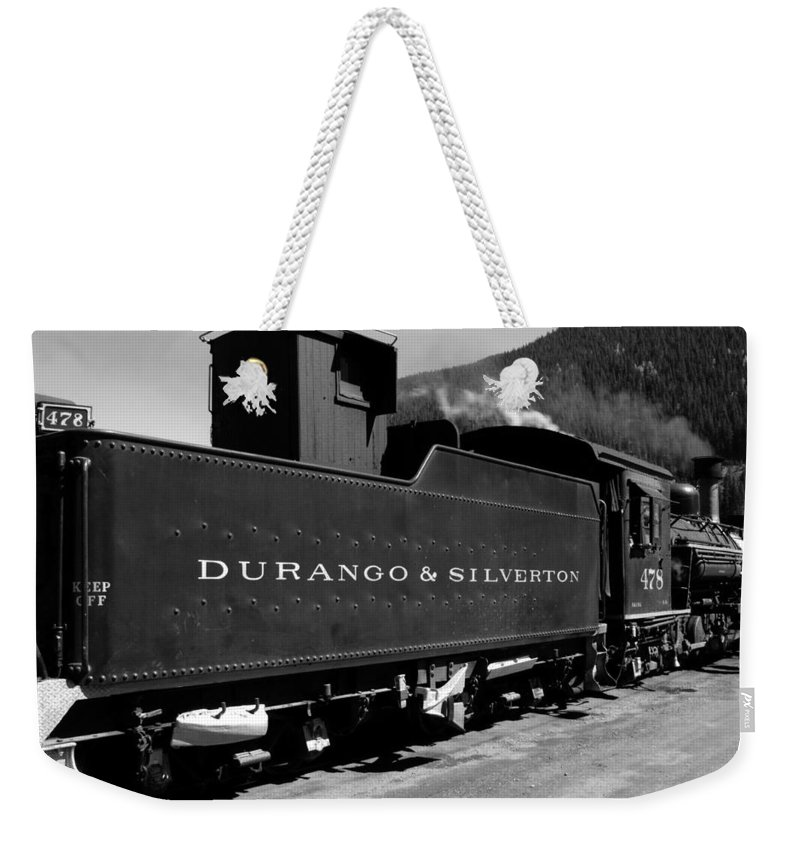 Durango And Silverton Weekender Tote Bag featuring the photograph Old Steam by David Lee Thompson
