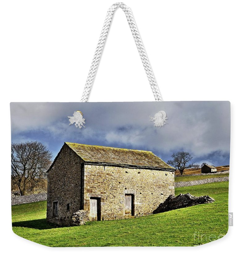Stone Barns Weekender Tote Bag featuring the photograph Old Stone Barns by Martyn Arnold