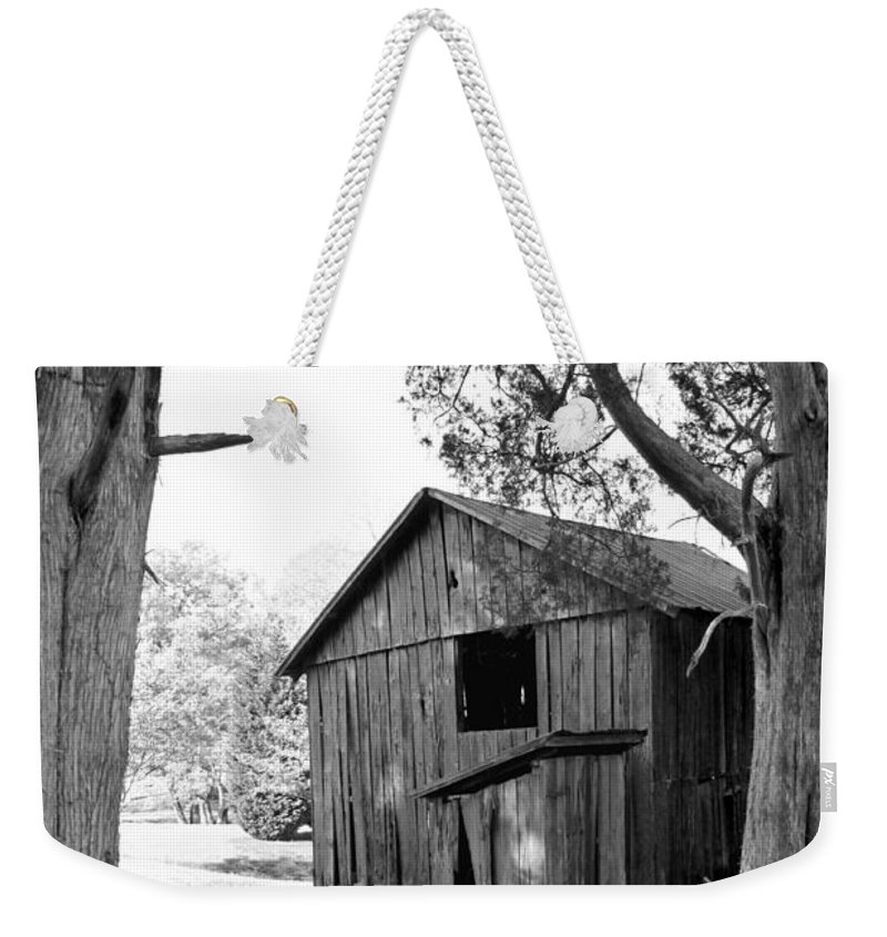 Landscape Weekender Tote Bag featuring the photograph Old Structures by Todd Blanchard