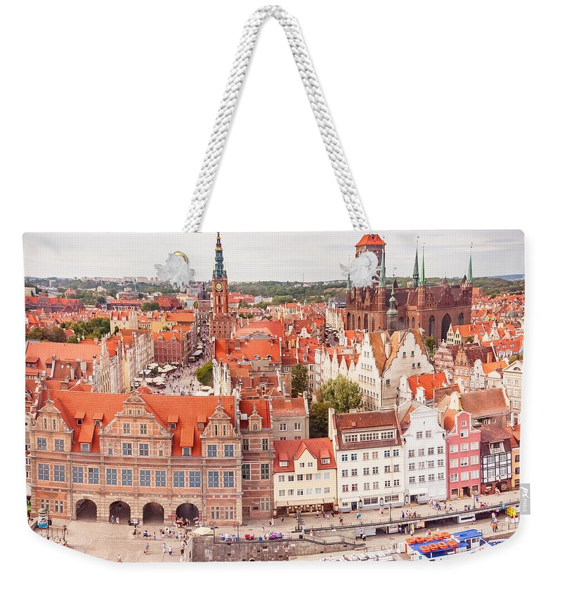City Weekender Tote Bag featuring the photograph Old Town Gdansk by Mariusz Talarek