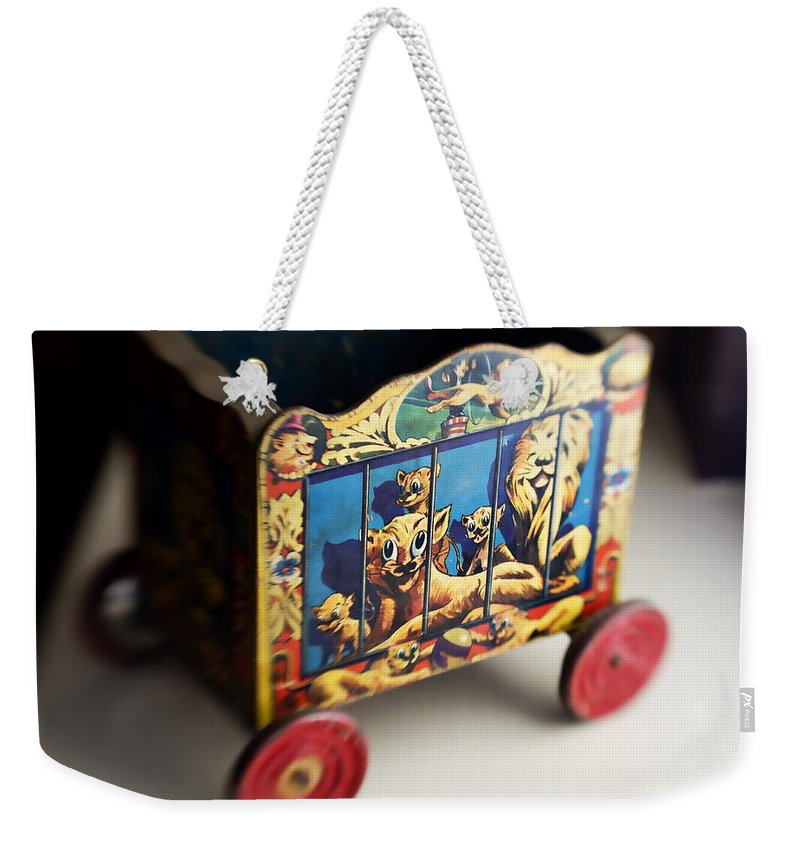 Americana Weekender Tote Bag featuring the photograph Old Toy by Marilyn Hunt