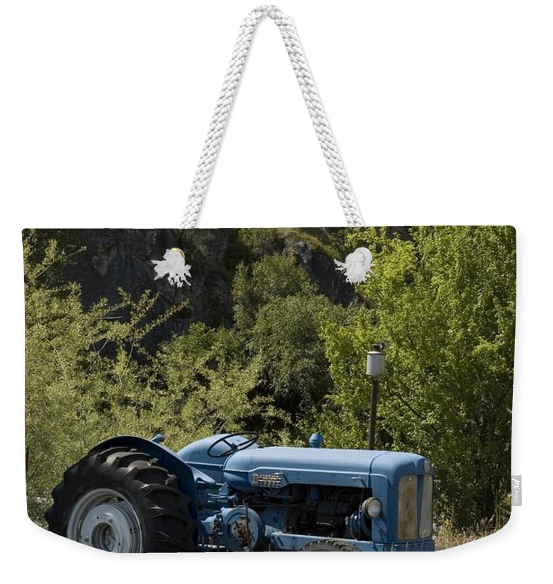 Tractor Weekender Tote Bag featuring the photograph Old Tractor 5 by Sara Stevenson