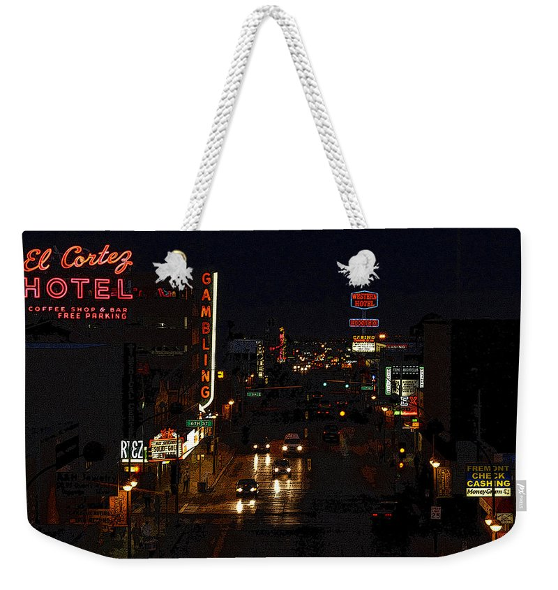 Art Weekender Tote Bag featuring the painting Old Vegas by David Lee Thompson