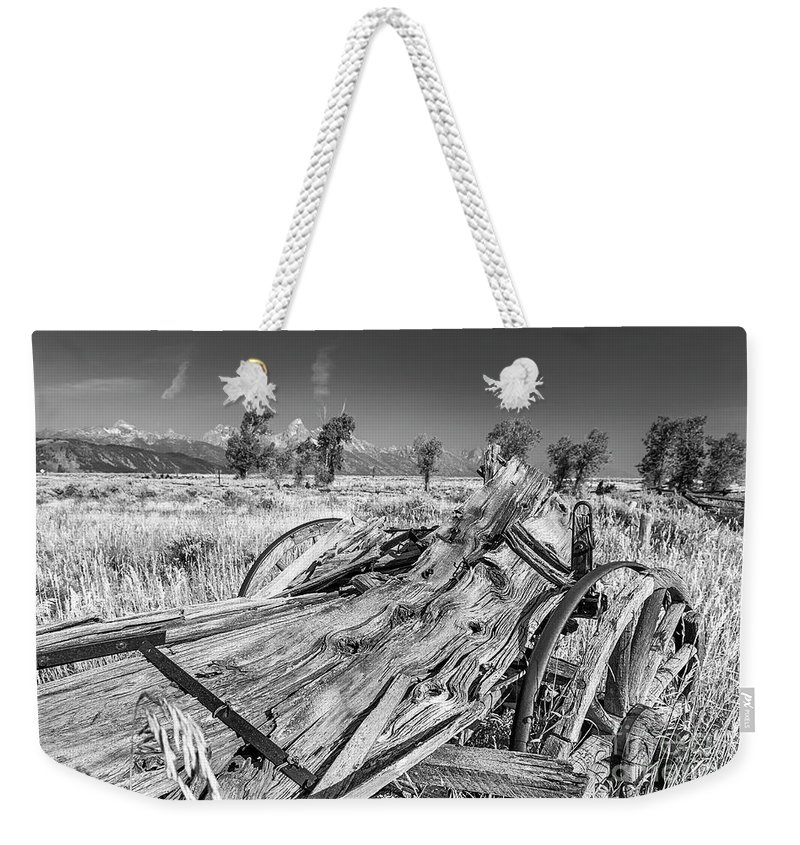 Old Rotting Wagon Weekender Tote Bag featuring the photograph Old Wagon, Jackson Hole by Daryl L Hunter