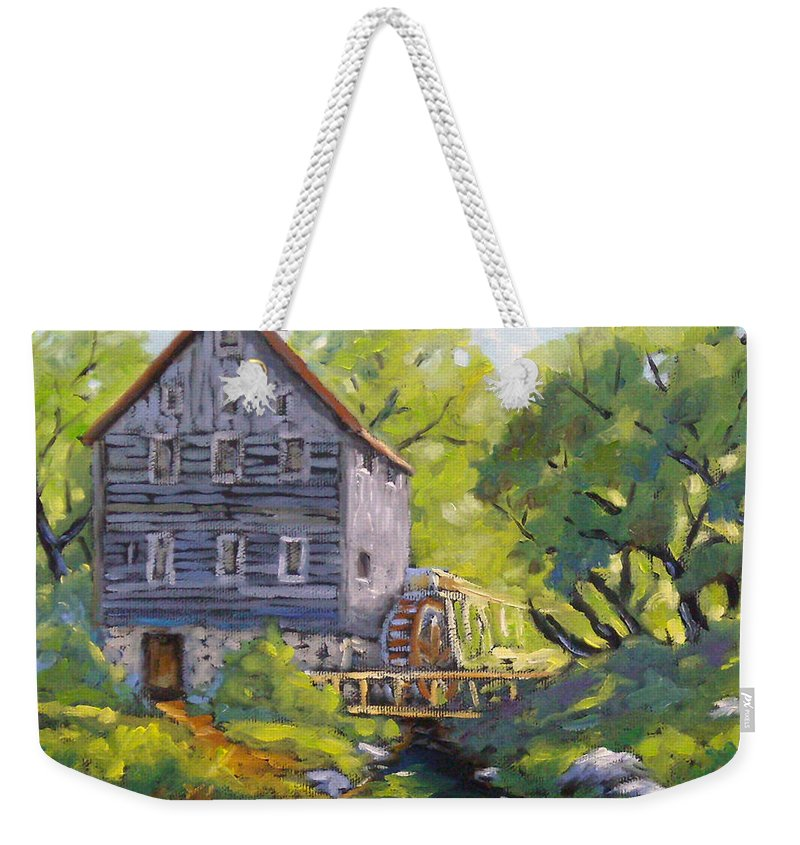 Art Weekender Tote Bag featuring the painting Old Watermill by Richard T Pranke