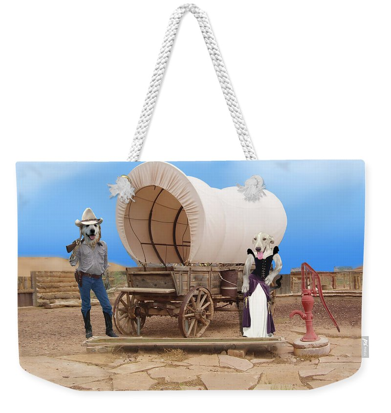 Dogs Weekender Tote Bag featuring the photograph Old West Dogs by Gravityx9 Designs