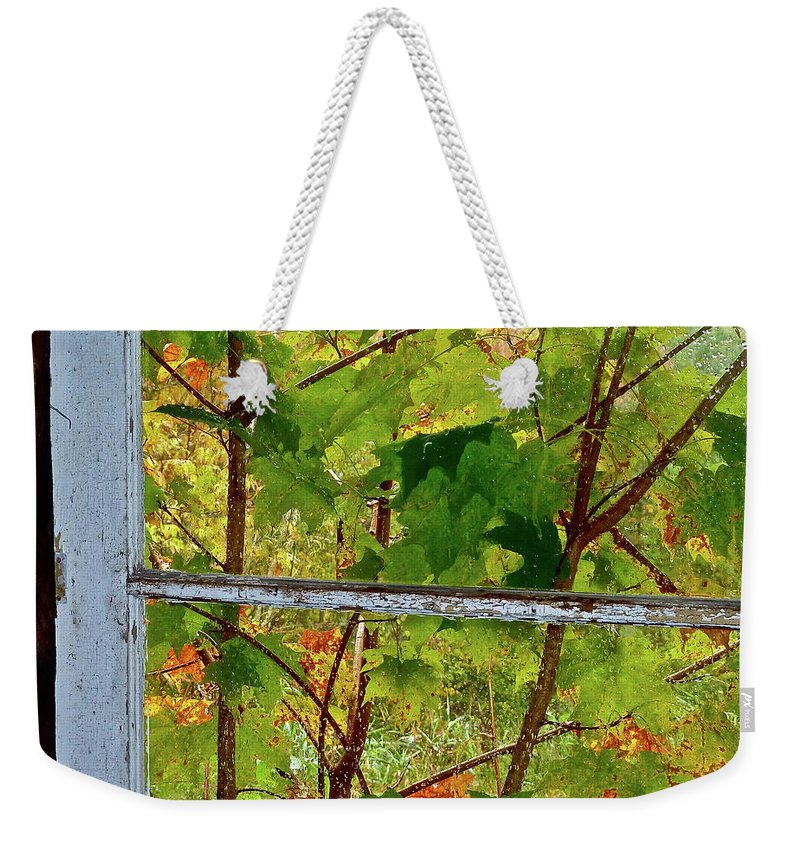 Buildings Weekender Tote Bag featuring the photograph Old Window by Diana Hatcher