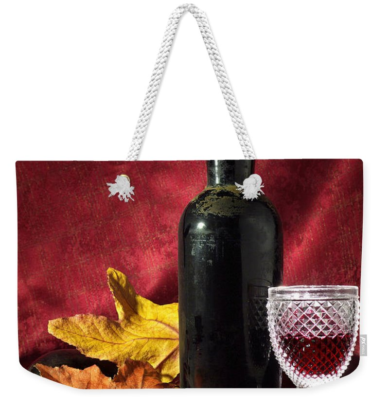 Acorn Weekender Tote Bag featuring the photograph Old Wine Bottle by Carlos Caetano